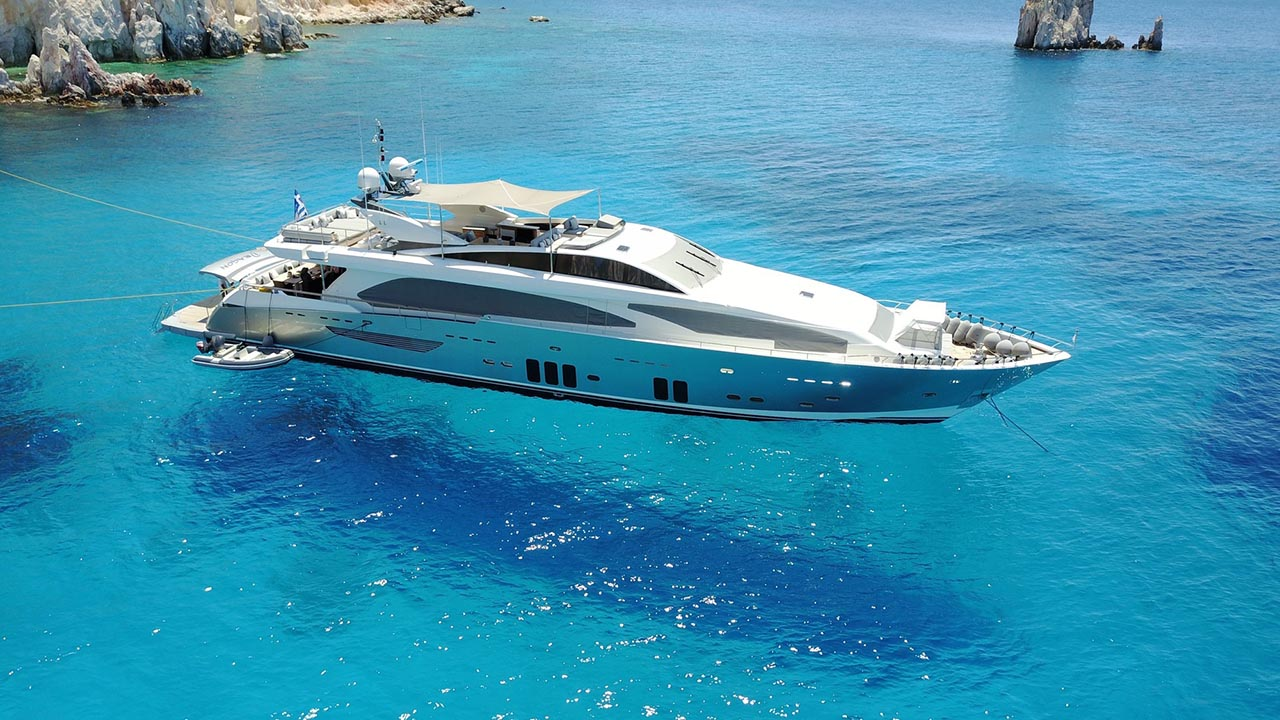Luxury crewed motor yacht charters in Greece  Private yacht