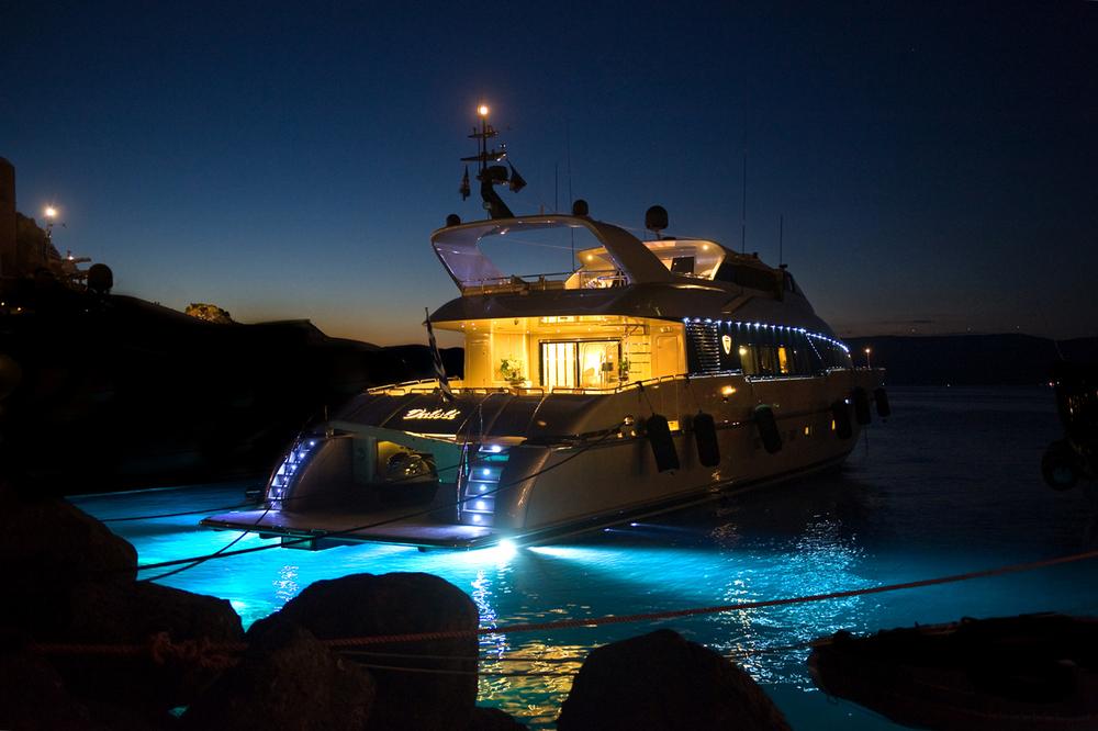 Yacht Boat Night